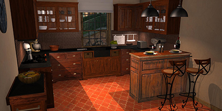 example room design Lubéron Kitchen