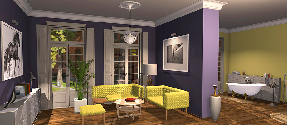 example room design Let's color with Dulux