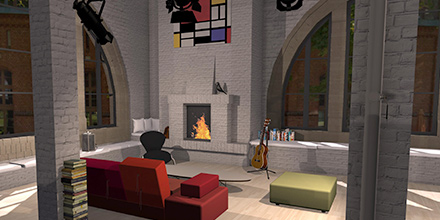 example room design Creative City Loft