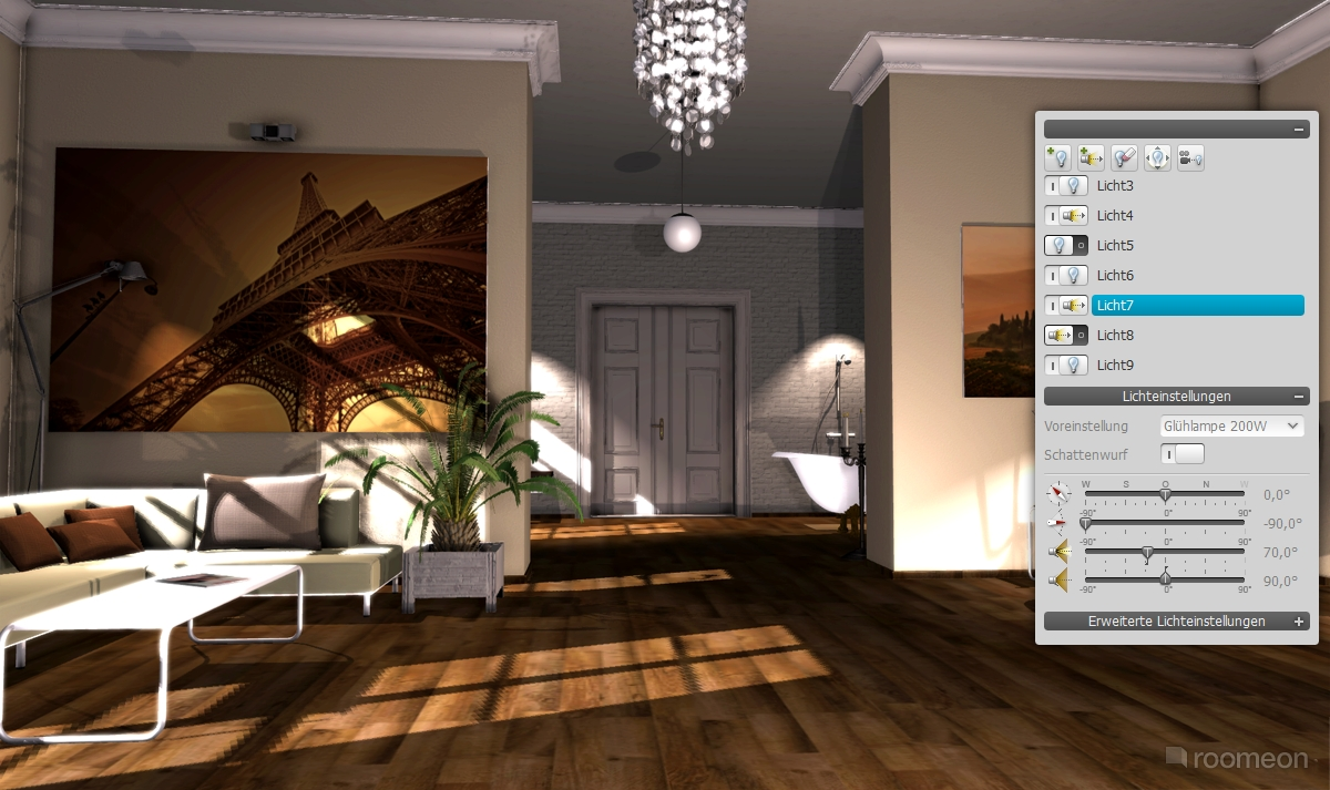 Roomeon the first easy to use interior design software for Easy to use house design software