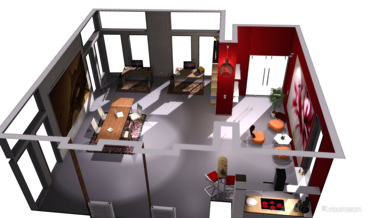 Roomeon the first easy to use interior design software - Free software for 3d home design ...