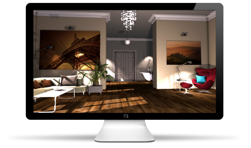 Roomeon the first easy to use interior design software for Interior planning software